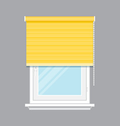 window with yellow jalousie isolated vector image