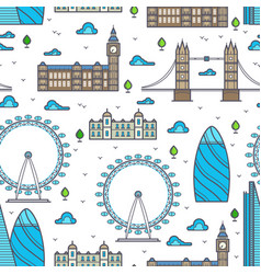 line london bridges skylines and sights seamless vector image vector image