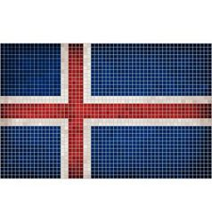 Mosaic Flag of Iceland vector image