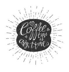 quote on coffee bean vector image vector image