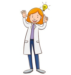 Scientist wearing lab gown vector image