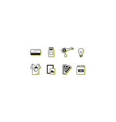 screen printing icon sets vector image vector image