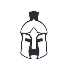 spartan greek helmet over white vector image vector image
