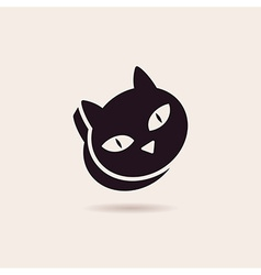 symbol cat food Stylized silhouette vector image vector image