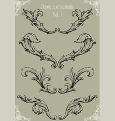 Baroque ornaments vol 1 vector image vector image