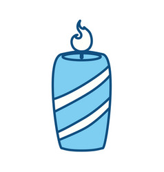 candle burn light vector image