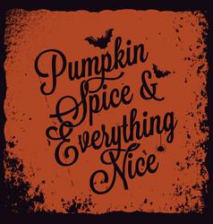halloween pumpkin vintage lettering background vector image