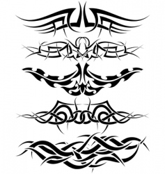 tattoos set vector image