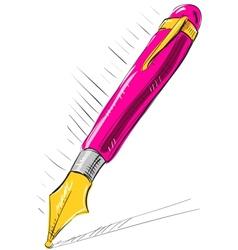 Ink pen cartoon vector image