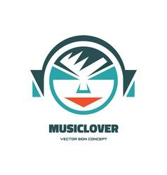 Music lover - logo concept vector image