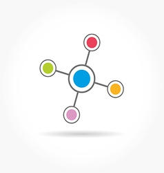 Network color technology communication icon vector image vector image