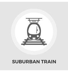 Suburban electric train flat icon vector image vector image