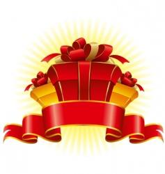 three cardboard gift box vector image