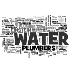 A little history about the plumber trade text vector