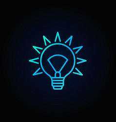 blue light bulb icon vector image vector image