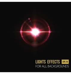Bright sunlight lens glass light effect vector
