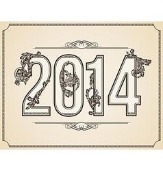 Calligraphic number 2014 vector