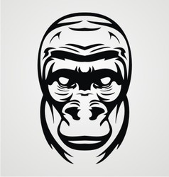 Gorilla Face Tribal vector image vector image