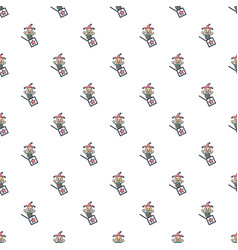 Jack in the box toy pattern seamless vector