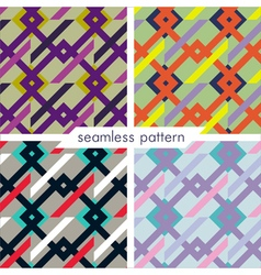 seamless pattern set4 vector image vector image