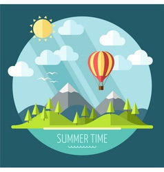 Summer landscape vector image vector image