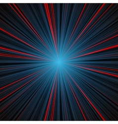 Abstract blue and red stripes burst background vector image