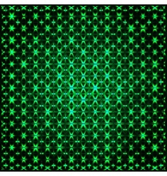Abstract glowing green 3D fractal vector