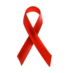 aids red ribbon isolated on white background vector image