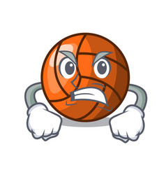 angry volleyball mascot cartoon style vector image