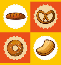 Bakery shop always fresh vector