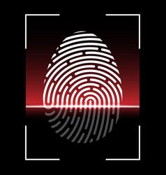 biometric fingerprint scan vector image