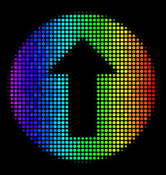 bright pixel rounded arrow icon vector image