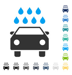Car shower icon vector