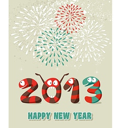 Cartoon Happy New Year confetti vector image