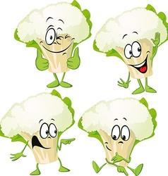 cauliflower - funny cartoon vector image