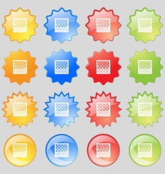 Checkers board icon sign Big set of 16 colorful vector