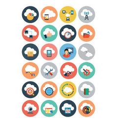 Cloud Computing Flat Icons 4 vector