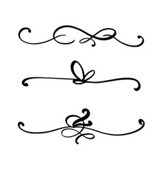 collection handdrawn dividers or borders made vector image