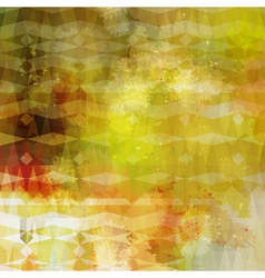 Colorful abstract geometric grunge beige pattern vector image