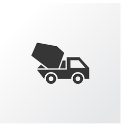 Concrete mixer icon symbol premium quality vector