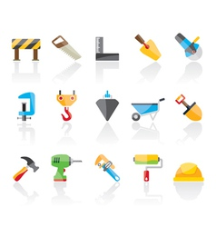 Construction industry and Tools icons vector image
