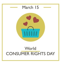 Consumer Rights Day vector
