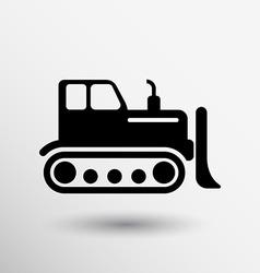 Crawler Dozer tractor icon button logo symbol vector image