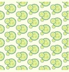 Cucumber seamless pattern flat design vector