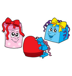 cute gift collection vector image