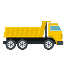 dumper truck icon isolated vector image