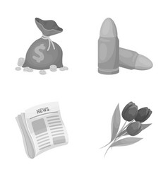 finance service and other monochrome icon in vector image