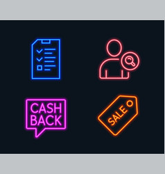 Find user money transfer and interview icons vector
