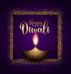 Glittery diwali background vector