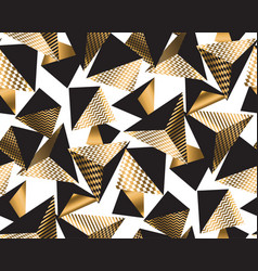 gold and black geometric pyramid vector image